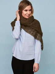 Square shawl, silk mohair knitting kit
