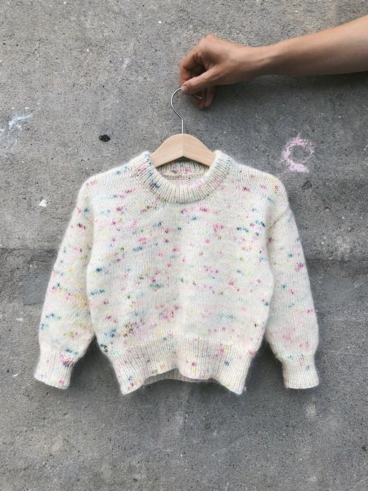 Stockholm Sweater Junior by Petiteknit, white, knitted child sweater