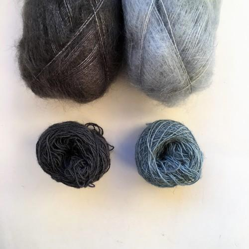 Isager Spinni and Silk Mohair small skeins