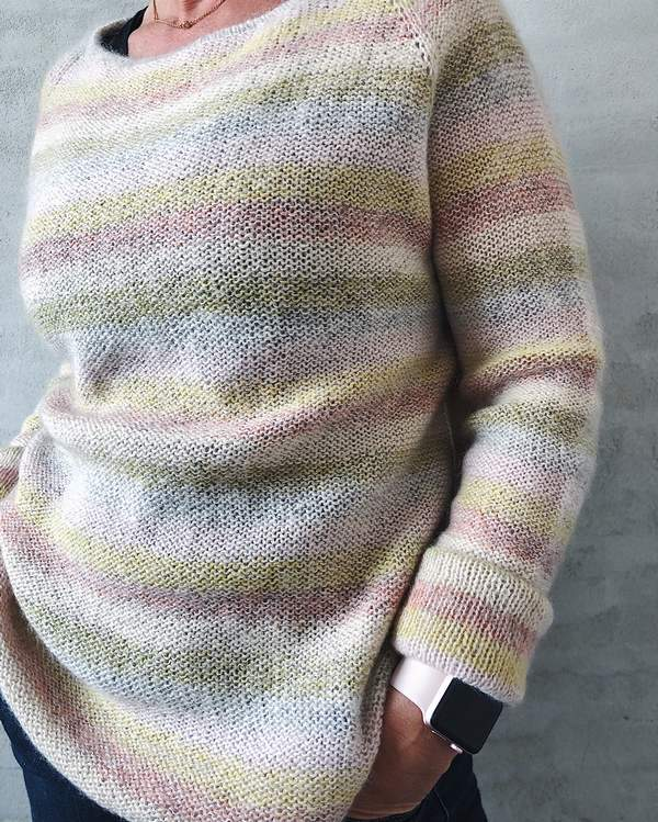 Summer in Denmark sweater, light summer knit in Isager Spinni and Silk Mohair - Önling Nordic knitting patterns and yarn