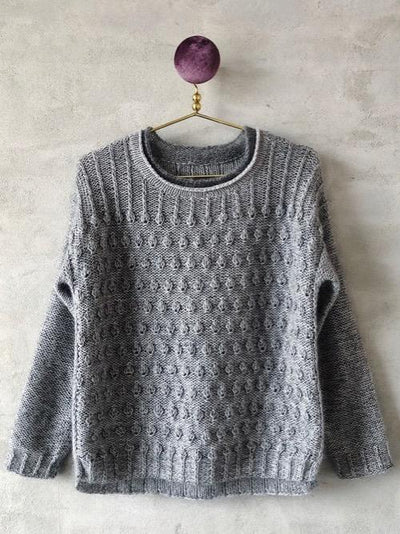 Knitting pattern for Vesterhavet sweater in Önling No 1 and silk mohair