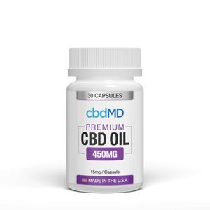CbdMD Oil Capsules 450mg 30 Count - hempgeek