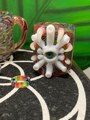 Karma Glass vessel colab with SALT Glass iso or q-tip jar - hempgeek