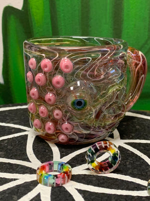 Karma Glass vessel colab with SALT Glass drinking mug