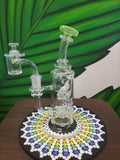 Phatt Ass Glass or PAG Recycler with UV reactive double color lips and matching cap