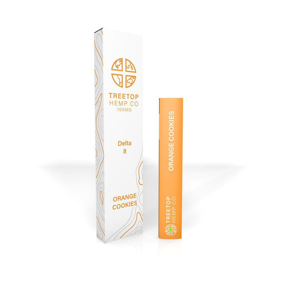 Treetop Hemp Co – Delta 8 Disposable Vape Pen (700mg) - Orange Cookies