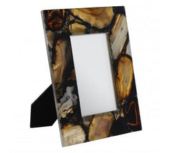 Nielsen House Bowerbird Black Agate Photo Frame