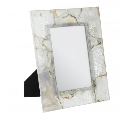 Bowerbird White Agate Photo Frame by Nielsen House