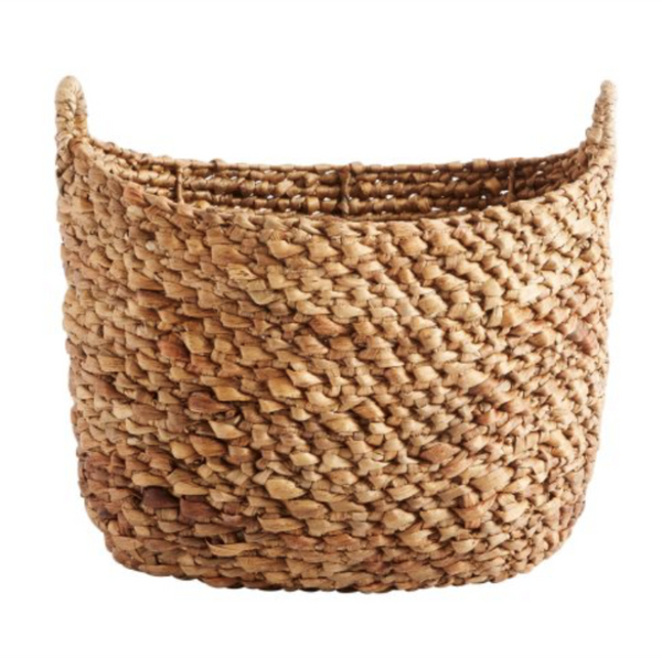 Muubs Basha Natural Water Hyacinth Storage Basket