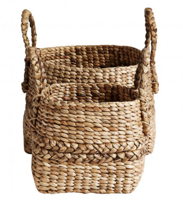Muubs Woven Handled Baskets S/2