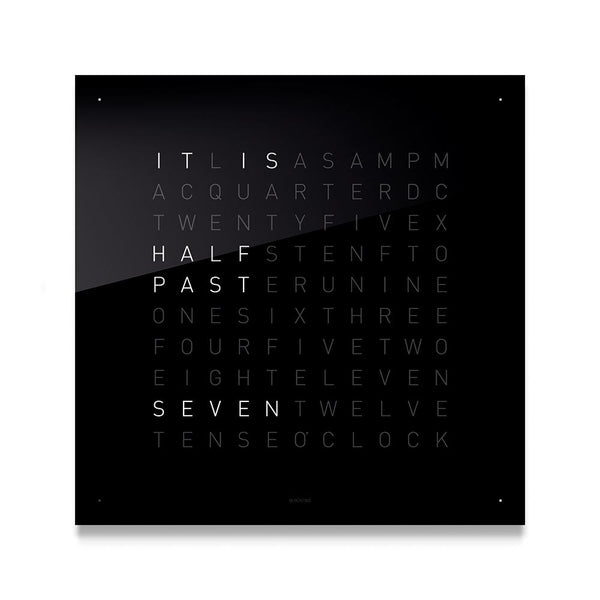 LARGE Stainless Steel Matt Powder Coated Wall Clock by QLOCKTWO