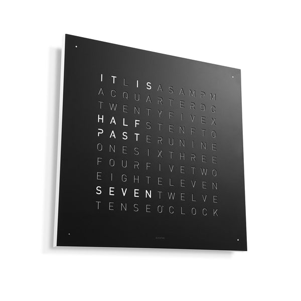 QLOCKTWO CLASSIC Stainless Steel Matt Powder Coated Wall Clock