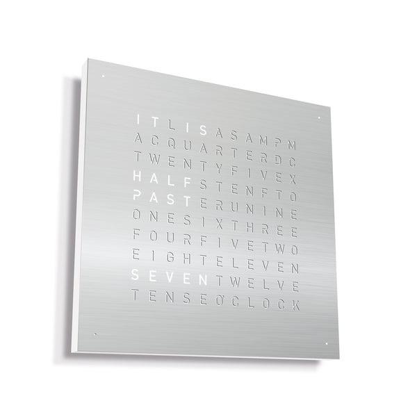 CLASSIC Stainless Steel Brushed Wall Clock by QLOCKTWO