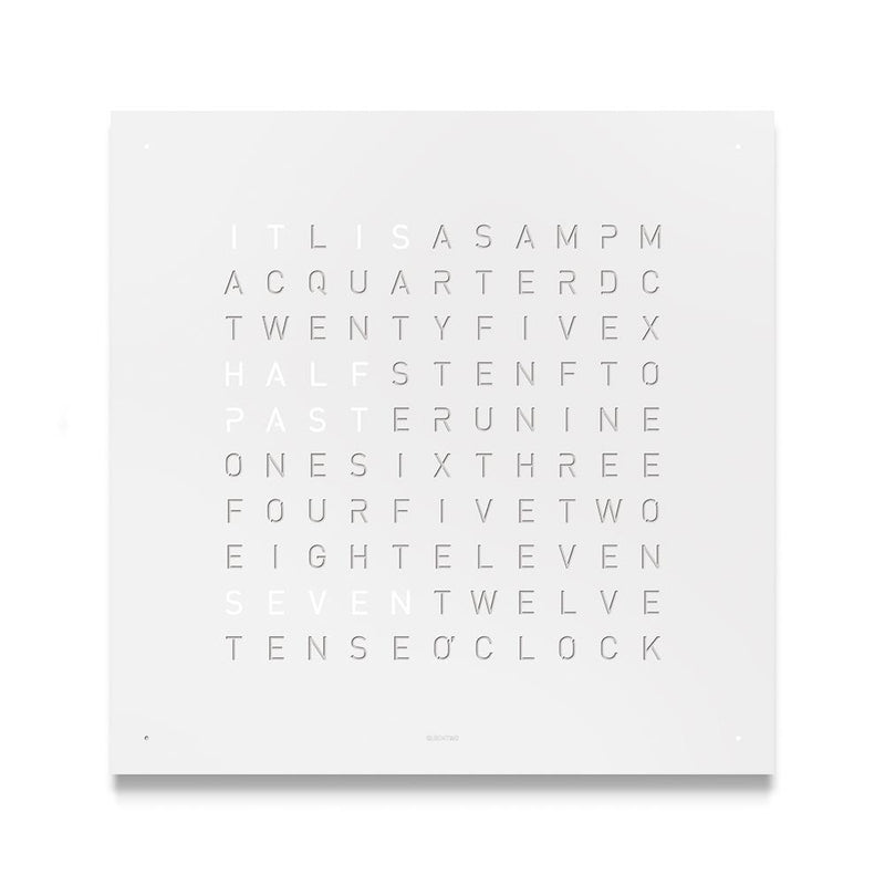 QLOCKTWO LARGE Stainless Steel Matt Powder Coated Wall Clock