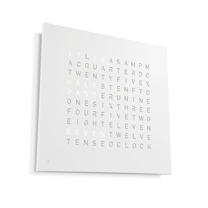 CLASSIC Stainless Steel Matt Powder Coated Wall Clock by QLOCKTWO