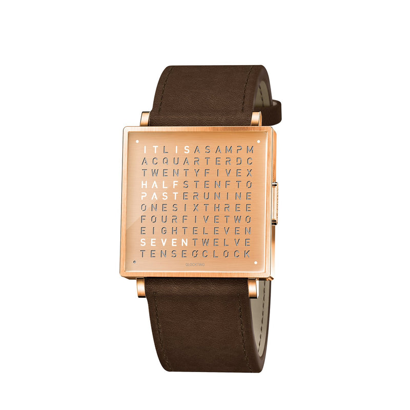 QLOCKTWO W35 35mm Copper Wristwatch