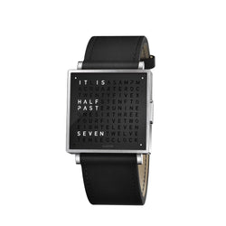 QLOCKTWO W35 35mm Pure Black Wristwatch