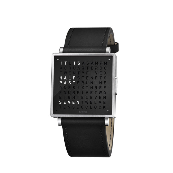 QLOCKTWO W39 39mm Pure Black Wristwatch