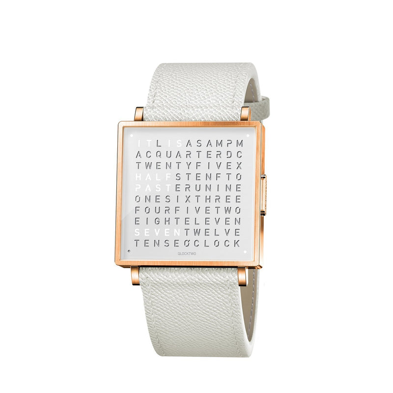 QLOCKTWO W39 39mm Rose White Wristwatch