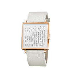 QLOCKTWO W35 35mm Rose White Wristwatch