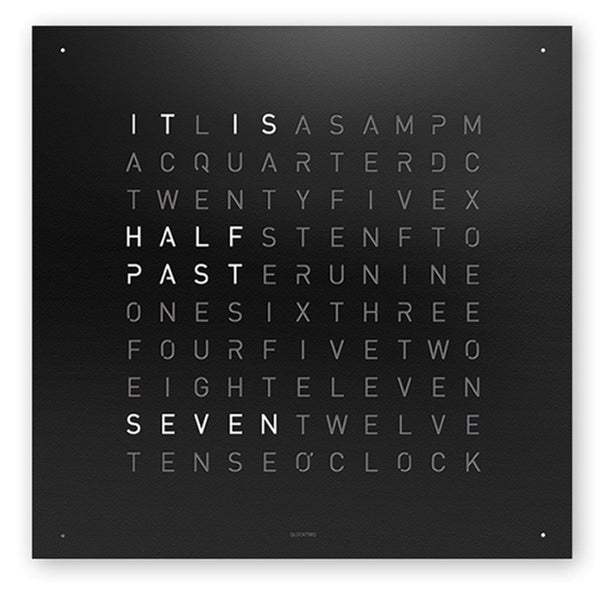 QLOCKTWO 180 Stainless Steel Matt Powder Coated Wall Clock