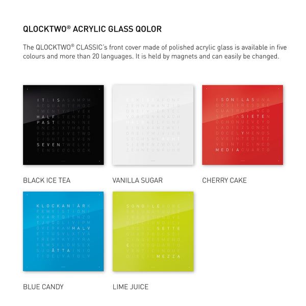 QLOCKTWO CLASSIC Acrylic Glass Accessories
