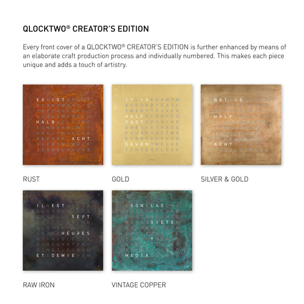QLOCKTWO LARGE Creator's Edition Accessories