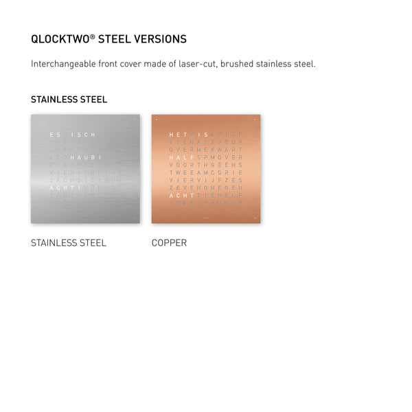QLOCKTWO LARGE Stainless Steel Brushed Accessories