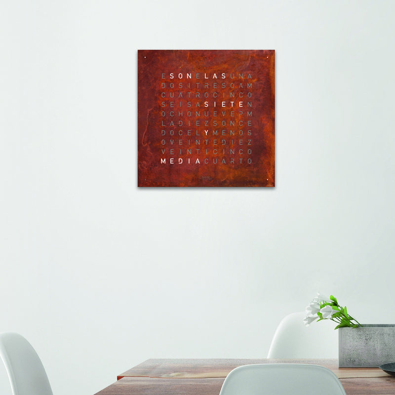 QLOCKTWO LARGE Creator's Edition Wall Clock in Raw Iron