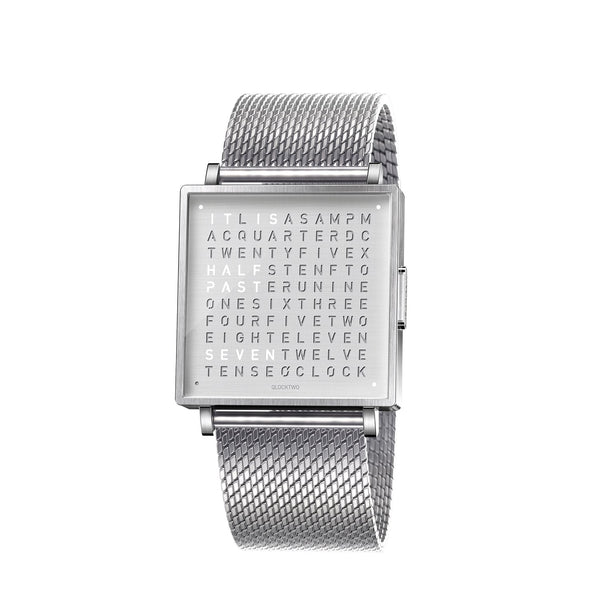 QLOCKTWO W39 39mm Fine Steel Wristwatch