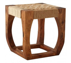 Nielsen House Boho Wooden Stool