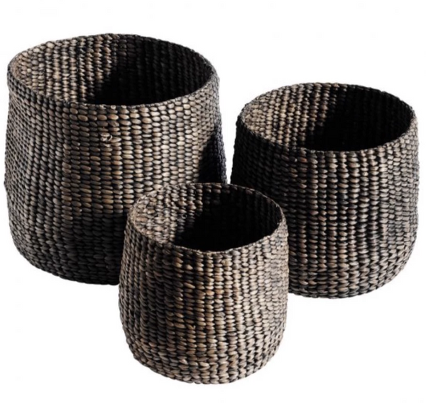 Muubs Round Woven Baskets S/3