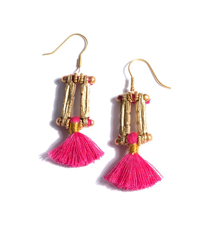 Tassel Earrings (HB-TER) Rosado