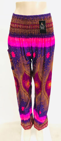 Thai Pants  - Eclipse rosado/morado