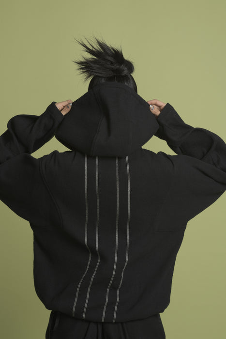 THE DEVOTEE HOODIE IN BLACK
