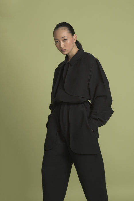 THE COMPOSER JUMPSUIT IN BLACK