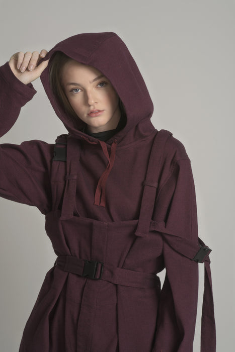 THE DEVOTEE HOODIE IN MERLOT