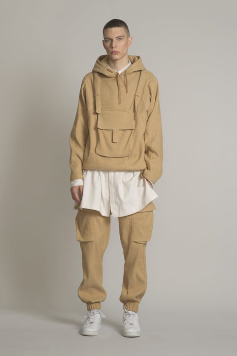 THE DEVOTEE HOODIE IN CAMEL