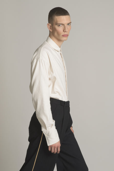 THE RHYTHM LONG SLEEVE SHIRT IN ECRU