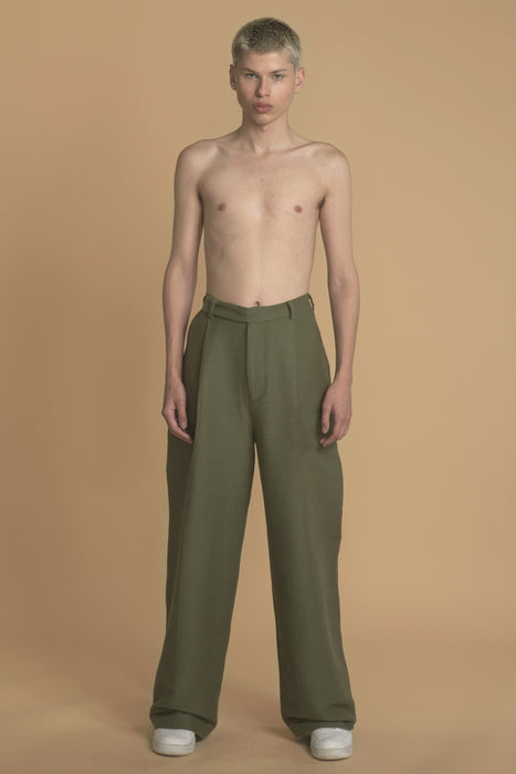 THE DREAMER HIGH WAISTED PANT IN ARMY