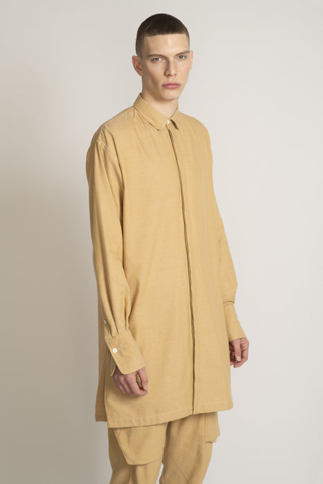 THE RHYTHM LONG SLEEVE SHIRT IN CAMEL