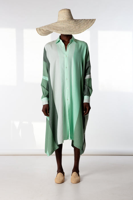 Oversized Shirt : 15cm Green Degrade