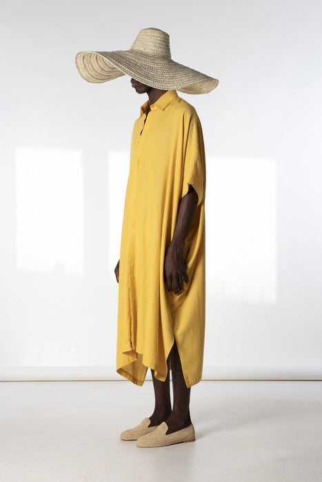 Sleeveless Oversized Shirt : Sunflower