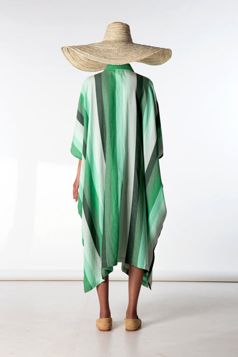 Sleeveless Oversized Shirt : 4cm Green Degrade