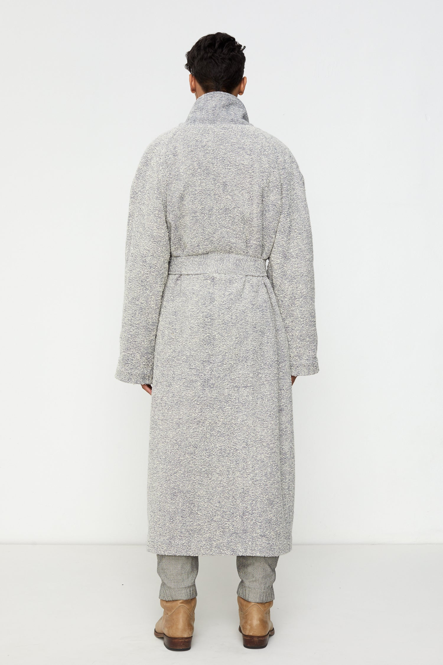 Blanket Coat in Ecru Boucle