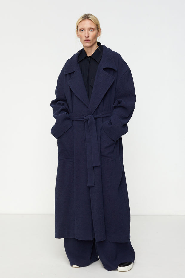 Blanket Coat in Navy