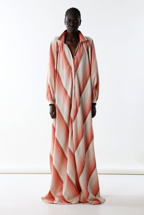 TOUAREG DRESS : 2CM PINK DEGRADED STRIPE