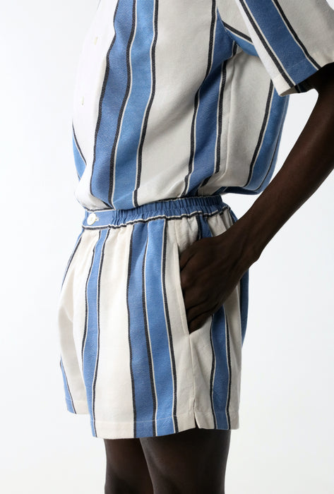 CROPPED SHORT : MIRRORED STRIPE