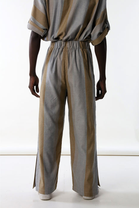PALAZZO PANTS : VARIED MICRO STRIPE