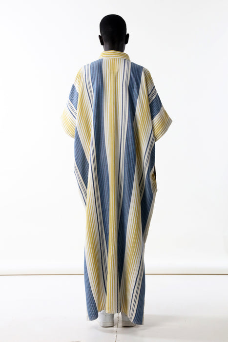 CAFTAN WITH SMALL POCKET : MIXED STRIPE